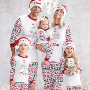 Matching Family Merry Fair Isle Christmas PJ's
