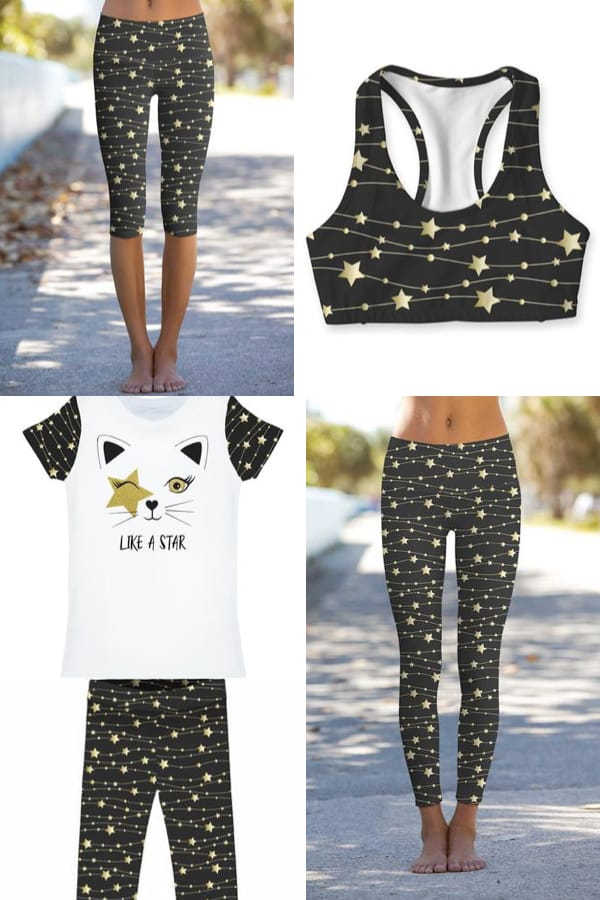 Mommy and Me Matching Star Map Yoga Outfits