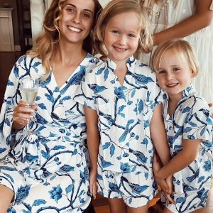 Piyama Mother Daughter Matching Short PJs