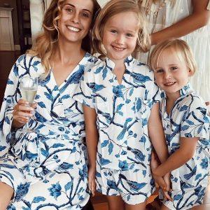 Piyama Mother Daughter Matching Short PJs