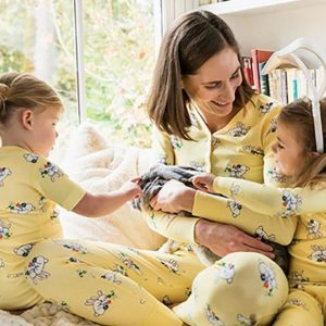 Matching Mommy and Me Snuggle Bunny Easter Pajamas