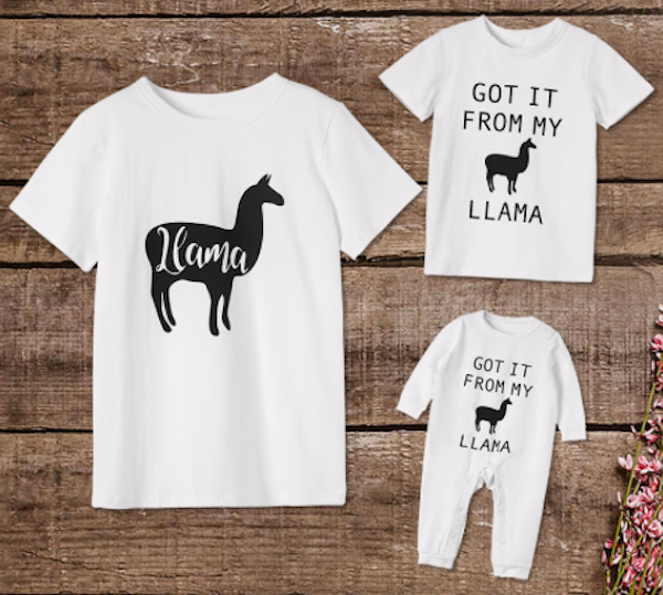 Family Fun Llama Short Sleeves Tees