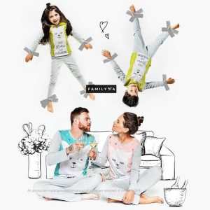 Family Matching Llama Fun Pajamas
