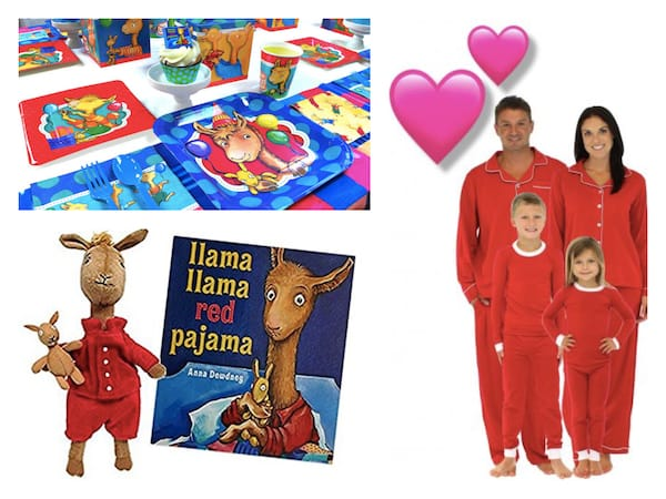 Llama Llama Red Pajamas Family PJ Party
