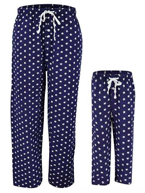 4th of July American Flag Star Mommy Daddy and Me Pajama Pants