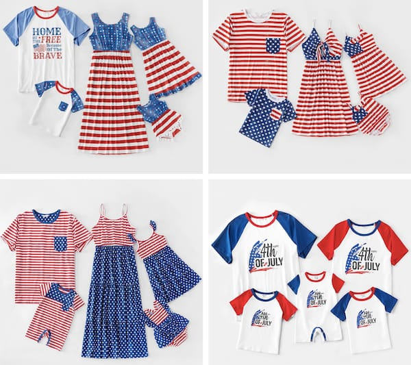Family Matching Independence Day Outfits