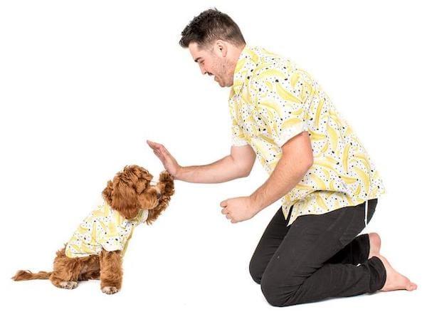 Mom Dad Dog Matching Hawaiian Shirts