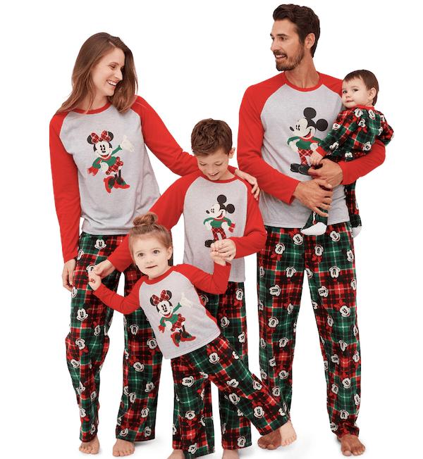 Disney Mickey Mouse and Minnie Family Christmas Pajamas