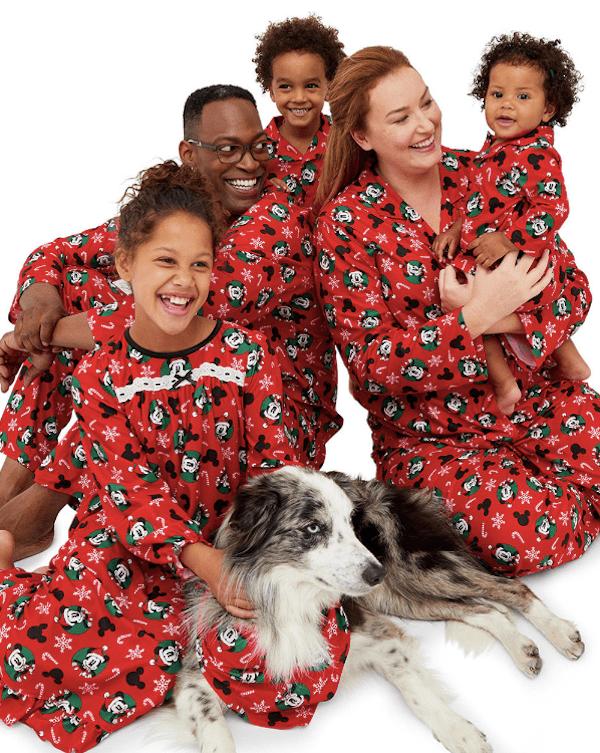 Disney Mickey Mouse and Minnie Printed Family Pajamas