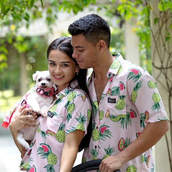 Dog Owner Matching, Unisex Tropical Shirt