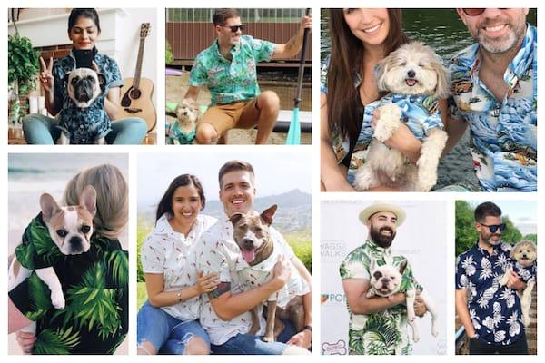 Dog Threads Matching Pup and Parent Hawaiian Shirts