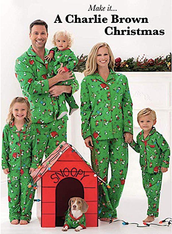Family Matching Charlie Brown Christmas Pajamas