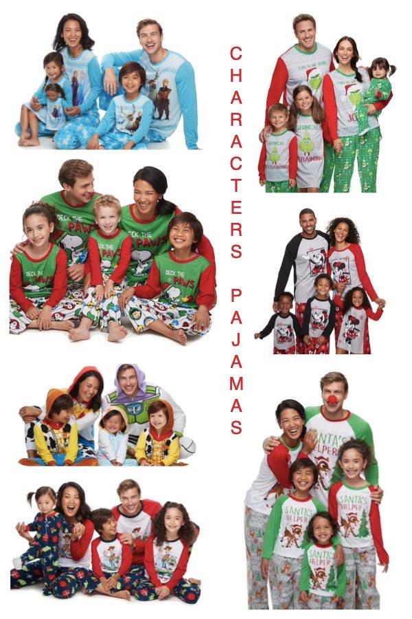 Family Matching Christmas Character Pajamas