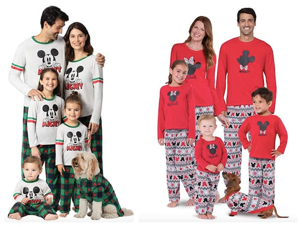 Family Matching Disney Mickey and Minnie Character Themed Christmas Pajamas