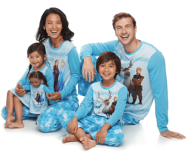 Family Matching Disney's Frozen Winter Pajama Sets