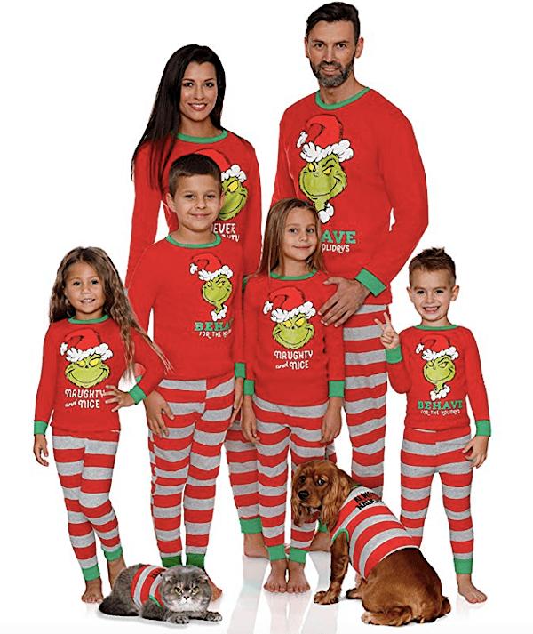 Family Matching Holiday Grinch Pajamas