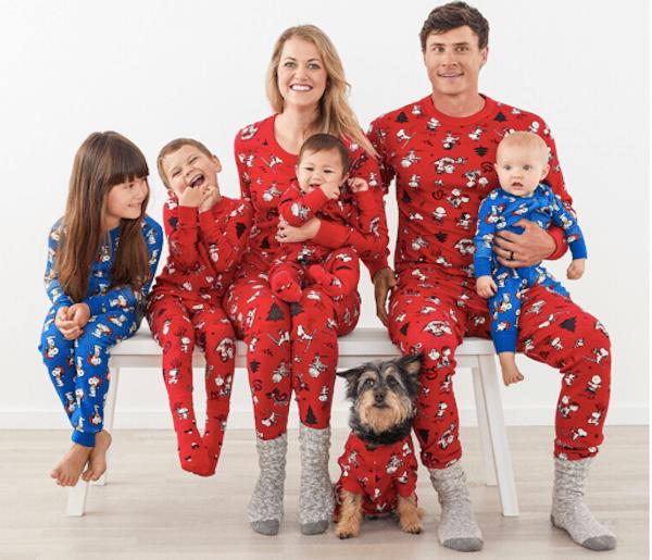 Family Matching Peanuts Holiday Pajamas