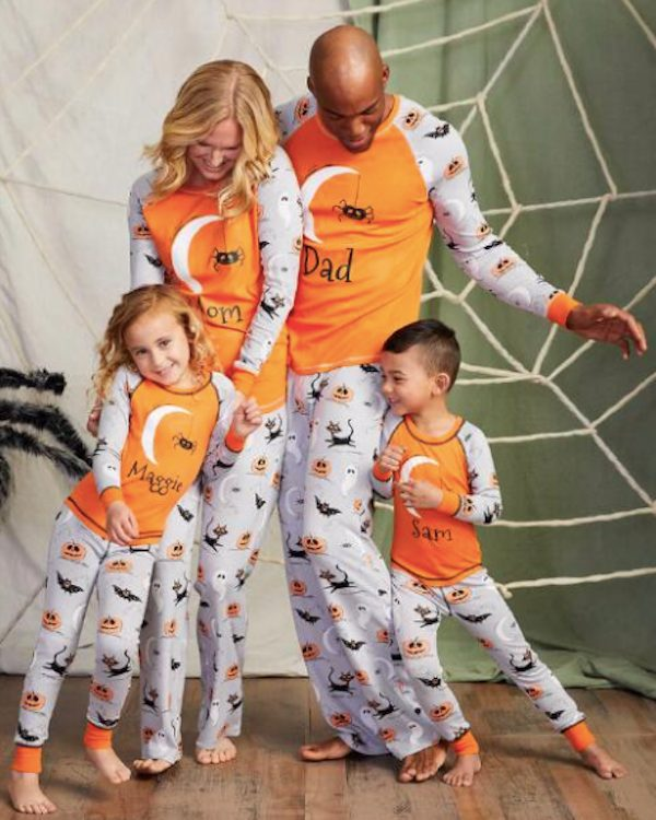 Family Matching Personalized Sketchy Spider Halloween Pajamas