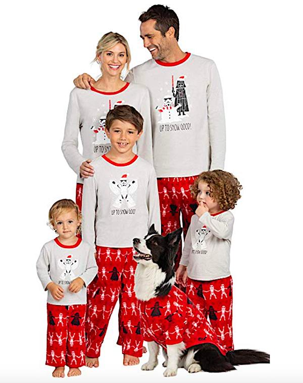 Family Matching Red Star Wars Christmas Pajamas