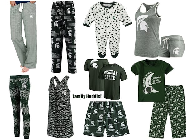 Light Weight Michigan State Spartan Family Matching Pajamas