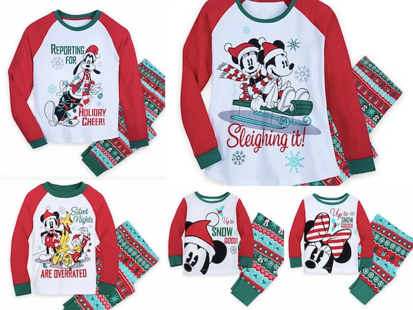 Mickey, Minnie & Pals Family Matching Holiday PJs