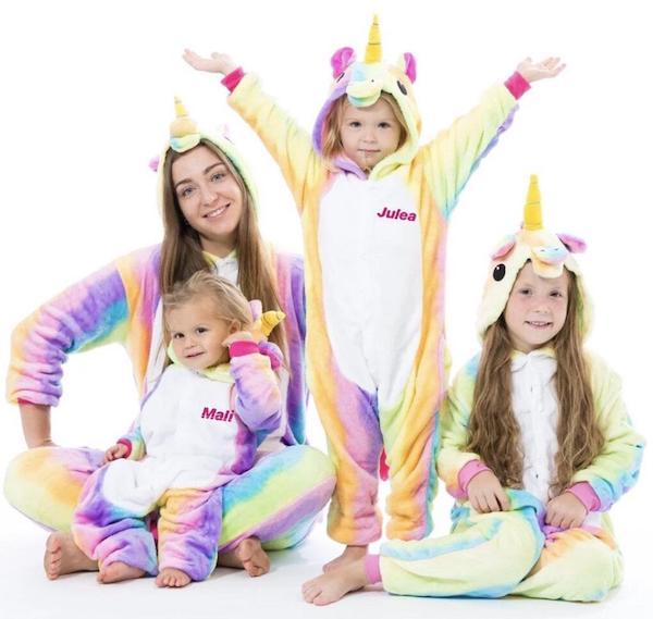 Family Matching Unicorn Onesie Halloween Pajamas