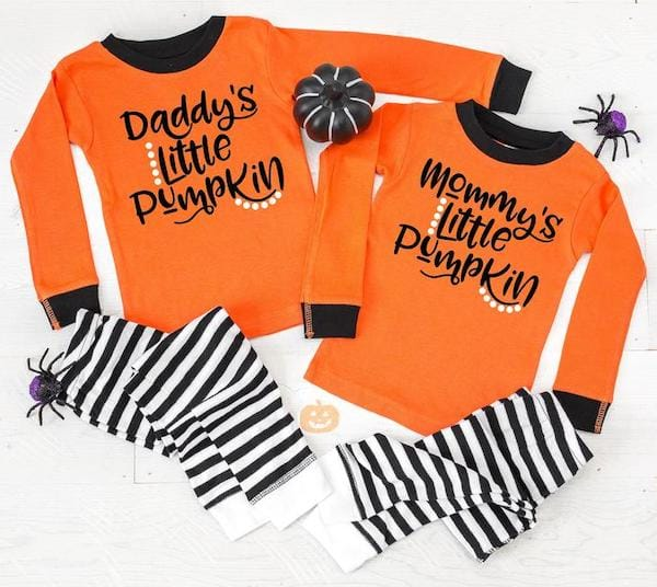 Mommy and Daddys Little Pumpkin Halloween Pajamas