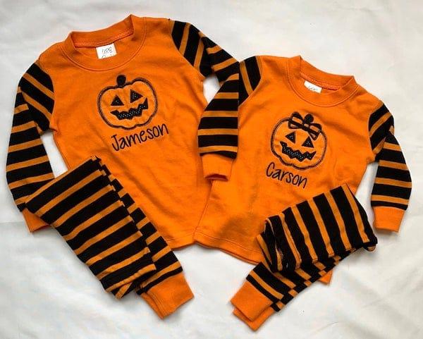 Monogram Halloween Pajamas