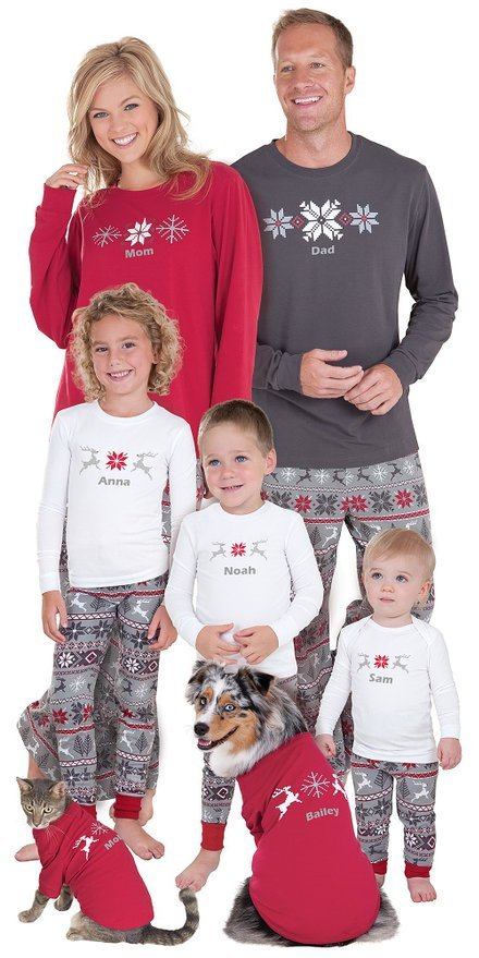 Classic Holiday Nordic Family Pajamas