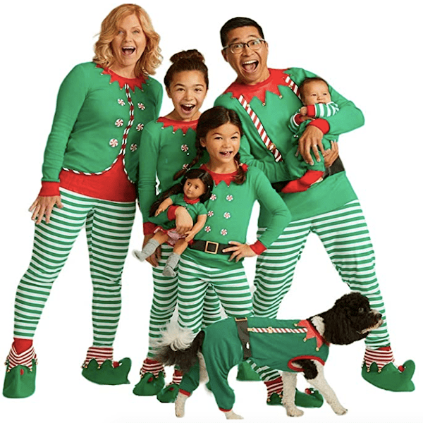 Elf Family Christmas Pajamas