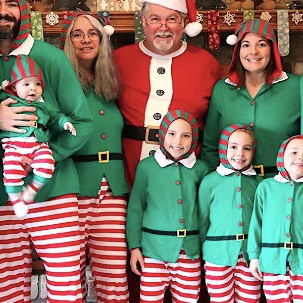 Family Hoodie Elf Christmas Pajamas