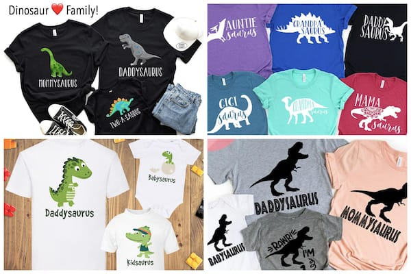 Family Matching Dinosaur T-Shirts
