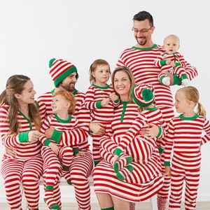 Family Matching Iconic Striped Holliday Pajamas