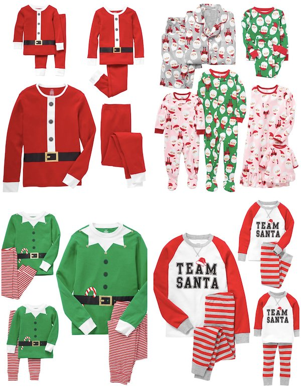 Family Matching Santa and Elf Christmas Pajamas