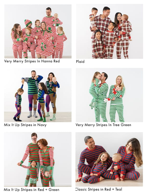Family Matching Striped and Plaid Jammies