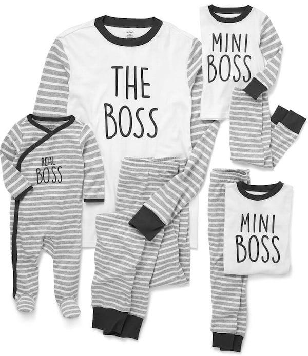 Family Matching The Boss Pajamas