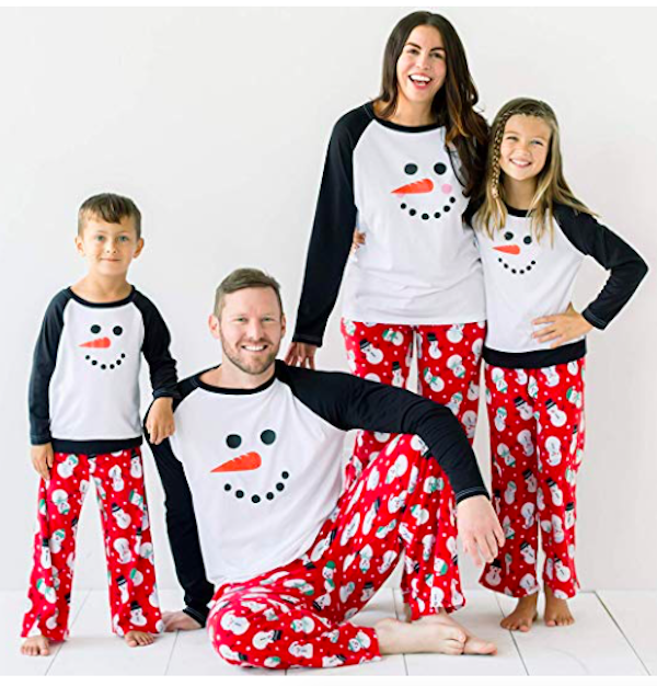 Family Matching Winter Fleece Snowman Holiday Pajamas