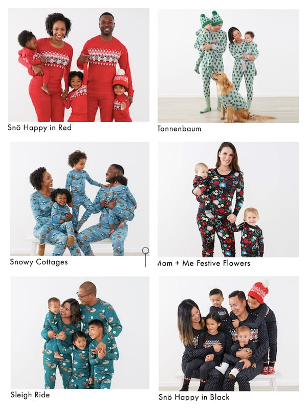 Family Matching Winter Themed Holiday Pajamas