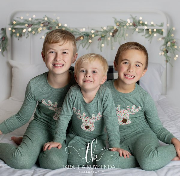 Heather Green Family Matching Moose Christmas Pajamas