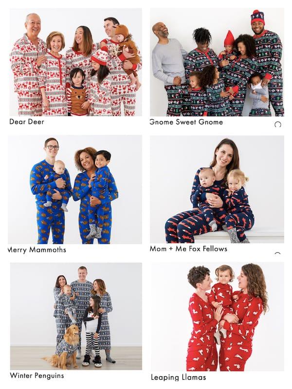 Matching Family Animal Themed Holiday Pajamas