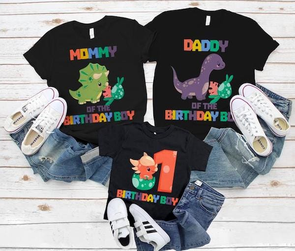 Matching Family Dinosaur Birthday Shirts
