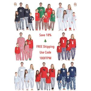 Family Matching Christmas Pajamas at PajamaMania 18OFFPM Promo Code