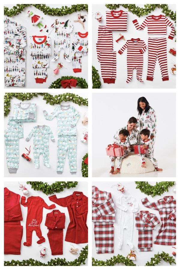 Pottery Barn Family Matching Christmas Pajamas Collection