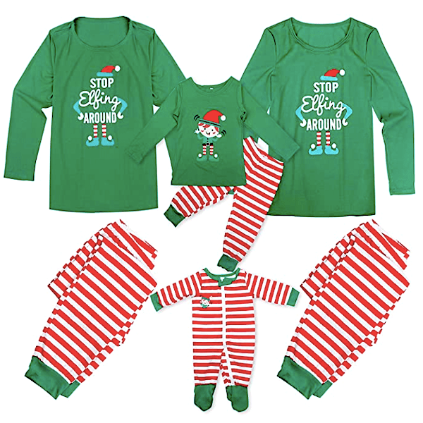 Stop Elfing Around Family Holiday Pajamas