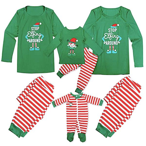 Stop Elfing Around Family Holiday Pajamas