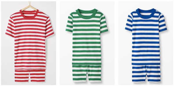 Striped Short Johns PJs