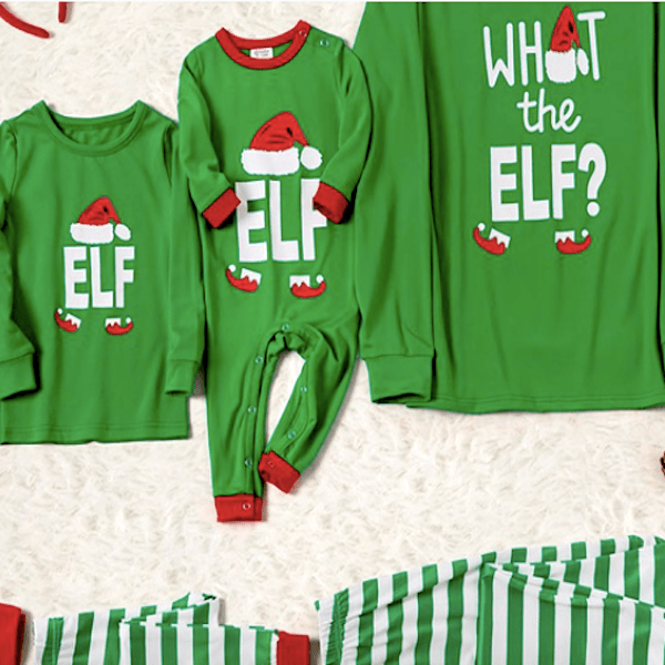 What the Elf Family Christmas Pajamas
