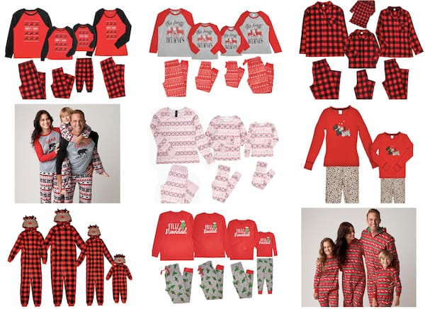 Cheap Family Matching Holiday Pajamas