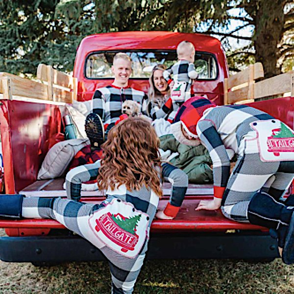 Family Maching Christmas Tailgate Onesie Flapjacks