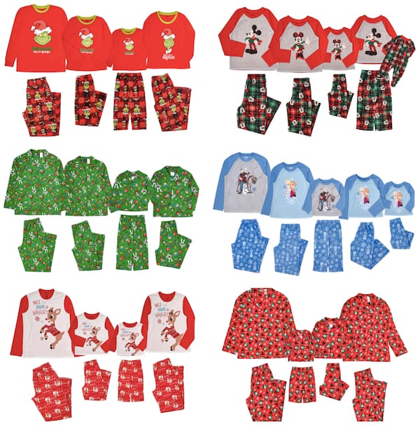 Family Matching Character Holiday Pajamas